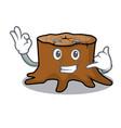 call me tree stump mascot cartoon vector image vector image