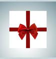 christmas giftbox icon set vector image