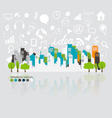City with application icon modern template design vector image vector image