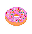 colorful delicious doughnut icon vector image vector image