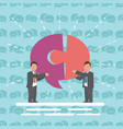 communication two businessmen with speech bubble vector image vector image