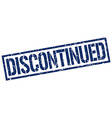 discontinued stamp vector image vector image