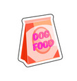 dog food sticker vector image vector image