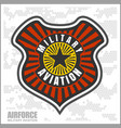 fighter squadron airforce - military aviation vector image vector image