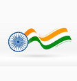 flag india in creative wave style vector image vector image
