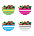 fruit in bowl set vector image vector image