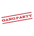 Gang Party Watermark Stamp vector image vector image