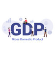 gdp global domestic product concept with big word vector image vector image