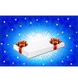 Gift box is on winter background vector image