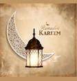 gold vintage luminous lantern vector image vector image