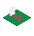 gravestones isometric icon on white vector image