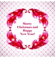 Greeting card for new year and christmas vector image