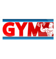 gym banner concept vector image vector image