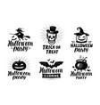 halloween set of logo or labels holiday symbol vector image vector image