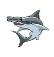 Hammerhead shark isolated mascot icon vector image vector image