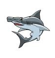 Hammerhead shark isolated mascot icon vector image