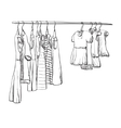 Hand drawn wardrobe sketch for baby girl vector image vector image