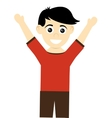 happy boy with open arms icon vector image vector image