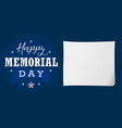 happy memorial day usa lettering banner vector image vector image