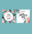 happy mothers day template with flowers vector image vector image