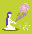 happy womens day meditation mandala concept vector image vector image