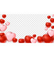 hearts isolated on transparent background vector image