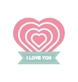 i love you greeting heart style vector image vector image