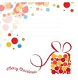 Isolated abstract colorful merry christmas vector image