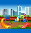 kindergarten or kids playground in city park vector image