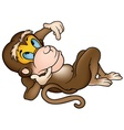 laying monkey vector image vector image