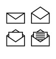 letter envelope symbols icons simple white set vector image vector image