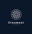 logo ornament infinity line art style vector image vector image