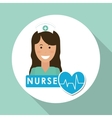 Medical care design nurse icon White background vector image vector image