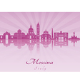 Messina skyline in purple radiant orchid vector image vector image