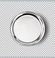 metal chrome steel plate isolated on transparent vector image vector image