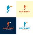 minimal abstract lighthouse logo and icon