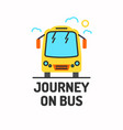 minimalistic posters of journey by bus vector image vector image
