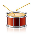 object drum drumsticks vector image