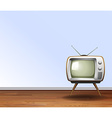Old television in the room vector image vector image