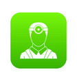 ophthalmologist with head mirror icon digital vector image vector image
