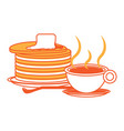 pancakes with butter icon vector image vector image