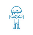 physical workout linear icon concept physical vector image vector image