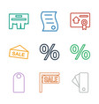 promotion icons vector image vector image