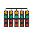 racer traffic light flat vector image vector image
