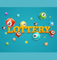 realistic detailed 3d lotto bingo concept card vector image vector image