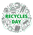 recycles clean day concept background outline vector image