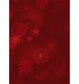 red background with delicate snowflakes vector image vector image