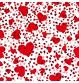 Red hearts seamless pattern love repeat vector image vector image