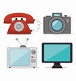 retro technology design vector image