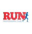 run professional club silhouette of running woman vector image